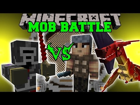 MAXED PLAYER VS GENERAL, VILLAGERS, & MORE — Minecraft Mob Battles — Mods