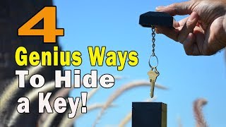 4 GENIUS WAYS TO HIDE A KEY!