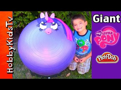 Mega Giant My Little Pony Play-doh Head Surprise! Twilight Sparkle Princess, Blind Boxes Hobbykids video