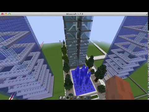 Construcción ciudad futurista MINECRAFT
