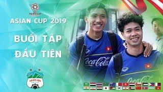 Minh Vương, Thanh Hậu, Thanh Bình hào hứng trong buổi tập đầu tiên chuẩn bị cho Asian Cup