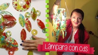 Chuladas Creativas :: Lampara con Cds :: Reciclando Cds