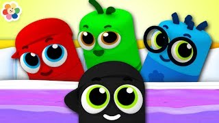 Ten In The Bed and more Nursery Rhymes Songs For Babies | Color Crew | BabyFirst TV