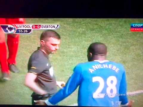 Distin disallowed goal vs liverpool 05/05/2013