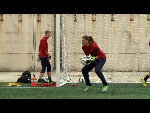 "The U.S. WNT goalkeepers usually arrive to training a bit earlier than the rest of the team so they can get in some extra work. ussoccer.com's ""Inside the Lines"" comes to you from Gillette..."