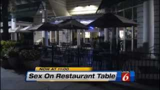 Florida Couple Having Sex on Restaurant Table In Front Of Children and Families