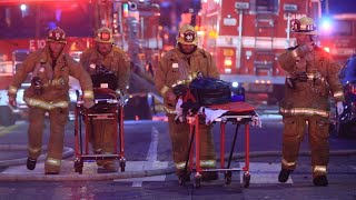 11 firefighters injured after explosion in L.A.