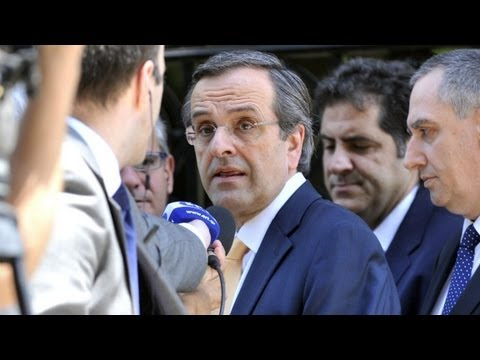 Greek's New Democracy Leader Antonis Samaras speaks