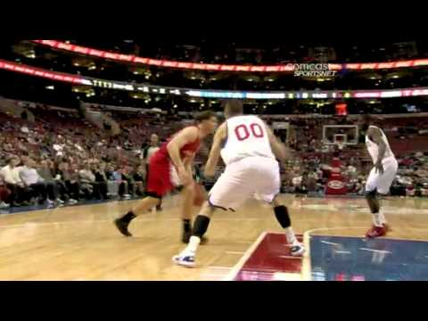 Blake Griffin gets blocked twice by Spencer Hawes vs Los Angeles Clippers