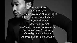 Download lagu John Legend - All of Me - Lyrics [ 1 Hour Loop - Sleep Song ]
