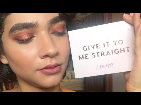 Resenha e tutorial Paleta Give it to me Straight | Colourpop