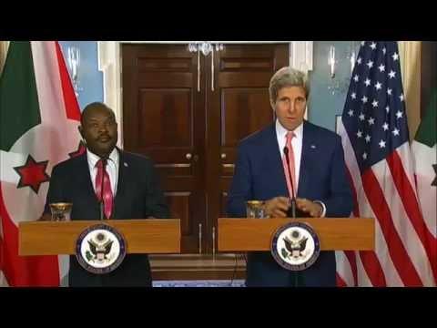 Secretary Kerry Delivers Remarks With Burundi President Nkurunziza