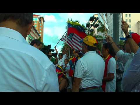 Miami Venezuelan Protest against  Senator Mary Landrieu
