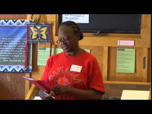 Day 4: Jeanie Griggs Speaks to Campers about Growing up Black in America