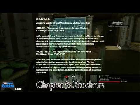 Gears of War 3 Collectibles (Hoarder Achievement) - Act 5 -- Chapter 5: Ascension