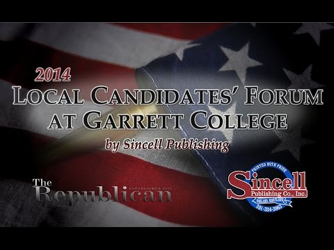 Local Candidates' Forum at Garrett College by Sincell Publishing 2014