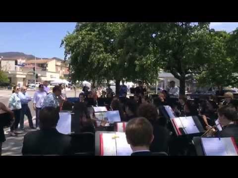 Pacific Palisades high school orchestra with Santa Monica high school's conductor
