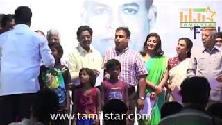 Actress Varalaxmi Sarathkumar And Director Perarasu At 50 Lakhs Scholarship For Poor Students