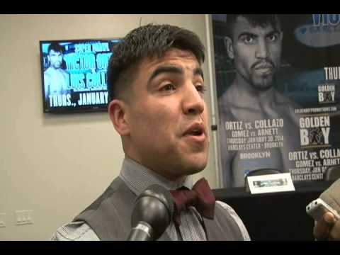 "Victor Ortiz: ""I know Luis Collazo is no joke"""