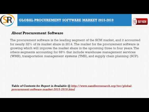 Global Procurement Software Market 2015 – 2019