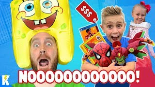 I'll BUY Whatever You Can Carry Challenge (KIDS WIN BIG!) + Spider-Man Toys Gear Test! KIDCITY