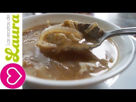 Sopa de Cebolla Comida Saludable Las Recetas de Laura