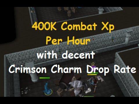 Runescape Guide: 400K Combat Xp Per Hour with Decent Crimson Charm Drop Rate