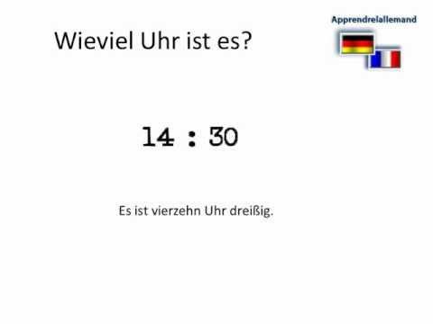 L'allemand pour débutants: l'heure en allemand