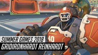 Gridironhardt Reinhardt In-game   Overwatch Summer Games 2018