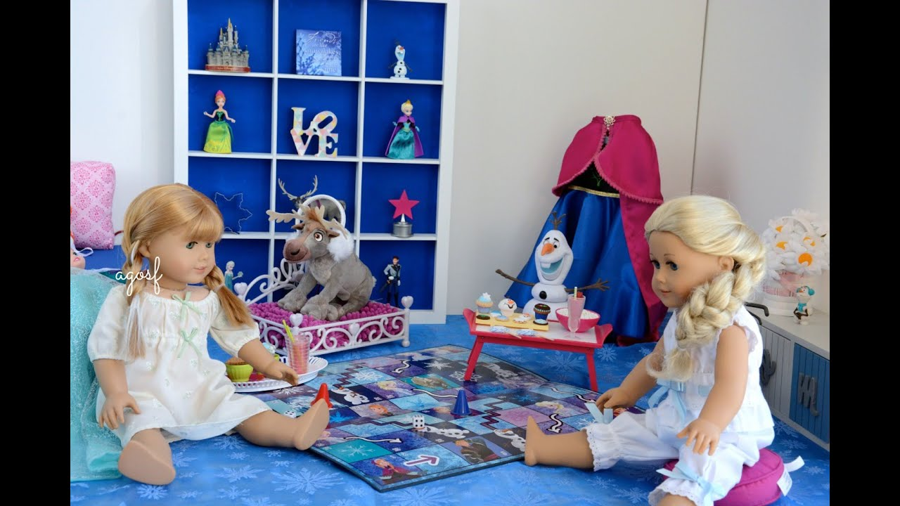 American Girl Doll Disney Frozen Anna S Bedroom Featuring
