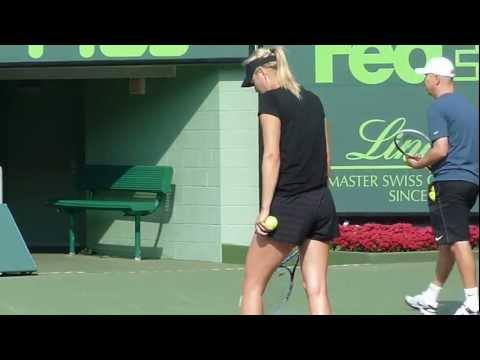 Maria Sharapova practice, Miami - Sony Ericsson Open 2013.