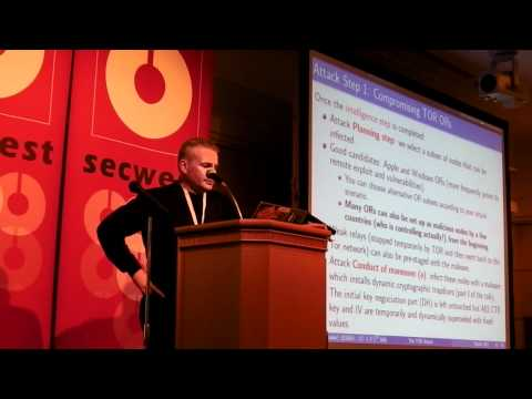 PacSec 2011 Eric Filiol - Dynamic Cryptographic Backdoors to take over the TOR network. - New Audio