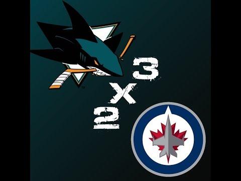 San Jose Sharks 3 x 2 Winnipeg Jets - 40º Jogo da Temporada 2014-2015 - HIGHLIGHTS