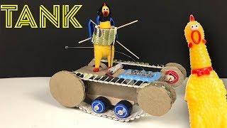 Как сделать Танк из Картона для Курящая Курица Tank Cardboard How to make Tank