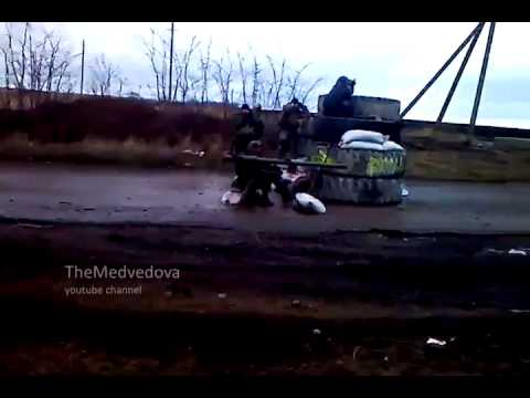 DPR militia shot of SPG-9. Ukraine hot news today.
