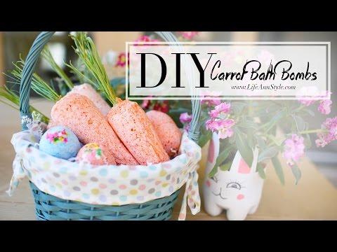 DIY Lush Carrot & Easter Egg Bath Bombs CUTE  -DIY Húsvéti sárgarépa és tojás fürdősó készítése