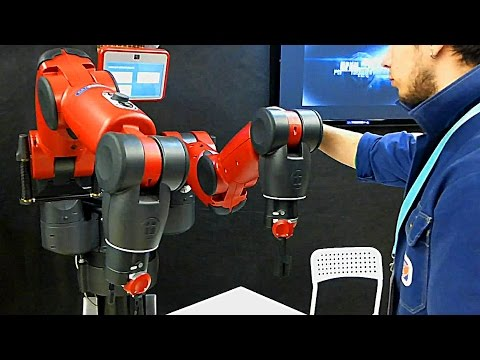 Робототехника. Промышленные Роботы. Робот Бакстер. Robot Baxter. Бал Роботов