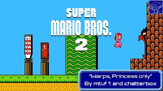 """TASBot plays NES Super Mario Bros. 2 """"Warps, Princess only"""" by mtvf1 and chatterbox in 08:20.82"""