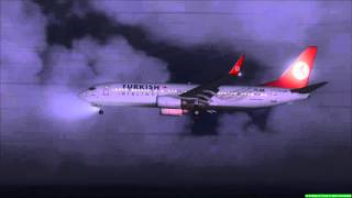Fsx Turkish Airlines 738 land Atatürk