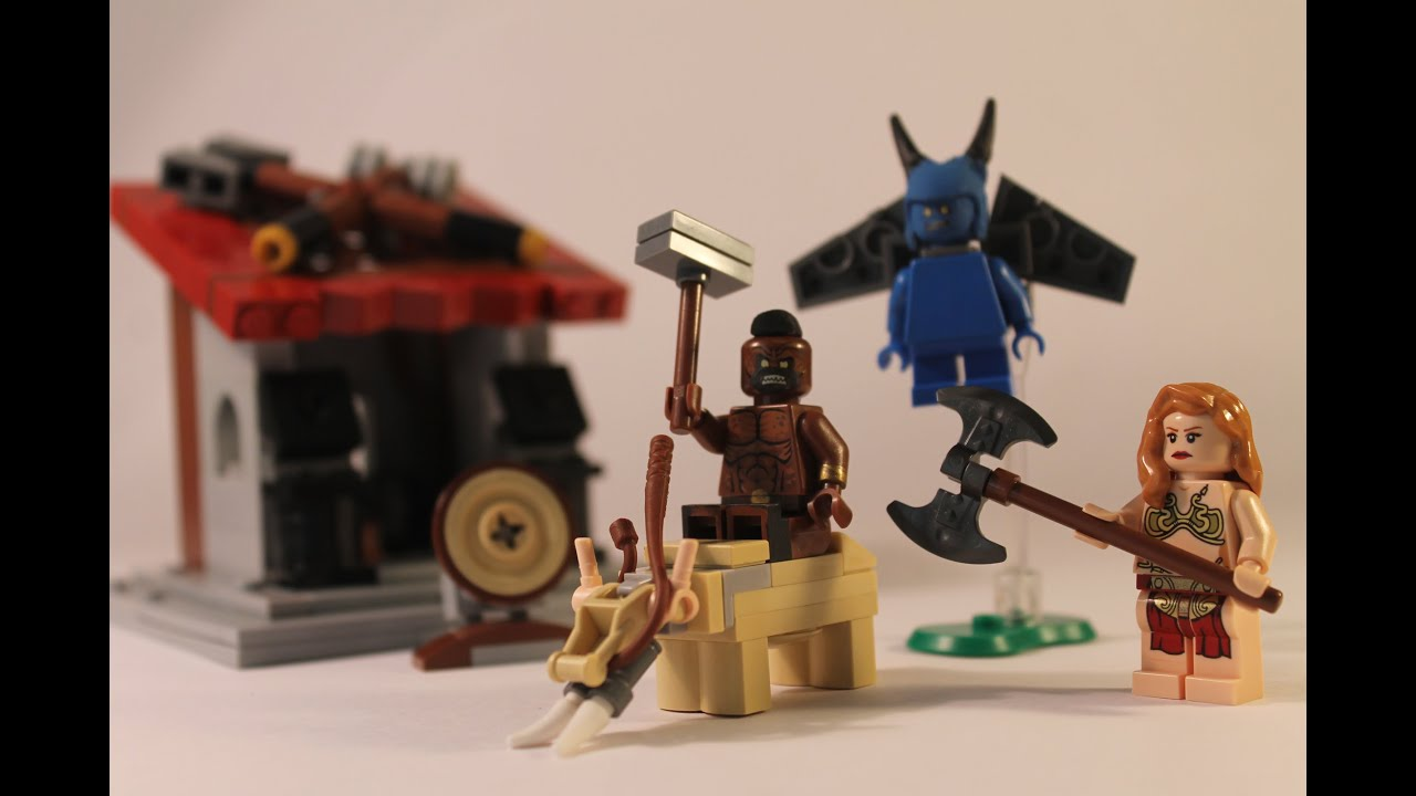 lego clash of clans quotdark elixir troopsquot moc review youtube