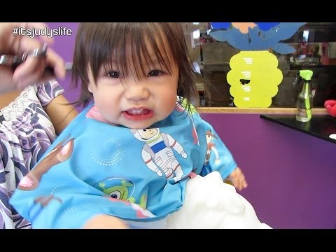Baby's First Haircut!!! - April 11, 2014 - itsJudysLife Daily Vlog