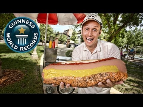 World s Largest Hotdog (Commercially Available) - Meet the Record Breakers - Guinness World Records