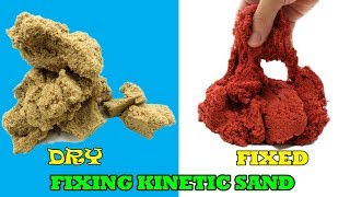 How To Fix DRY KINETIC SAND!!! Awesome DIY Kinetic Sand For Kids