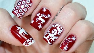 Born Pretty Store Review | Christmas Stamping Nail Art Tutorial