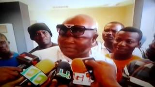 Bukom Banku pushes reporters in annoyance