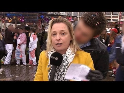 Female reporter groped live on air