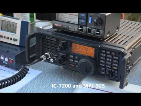 ICOM IC-7200 during IARU Region 1 SSB Fieldday on 2012.09.01