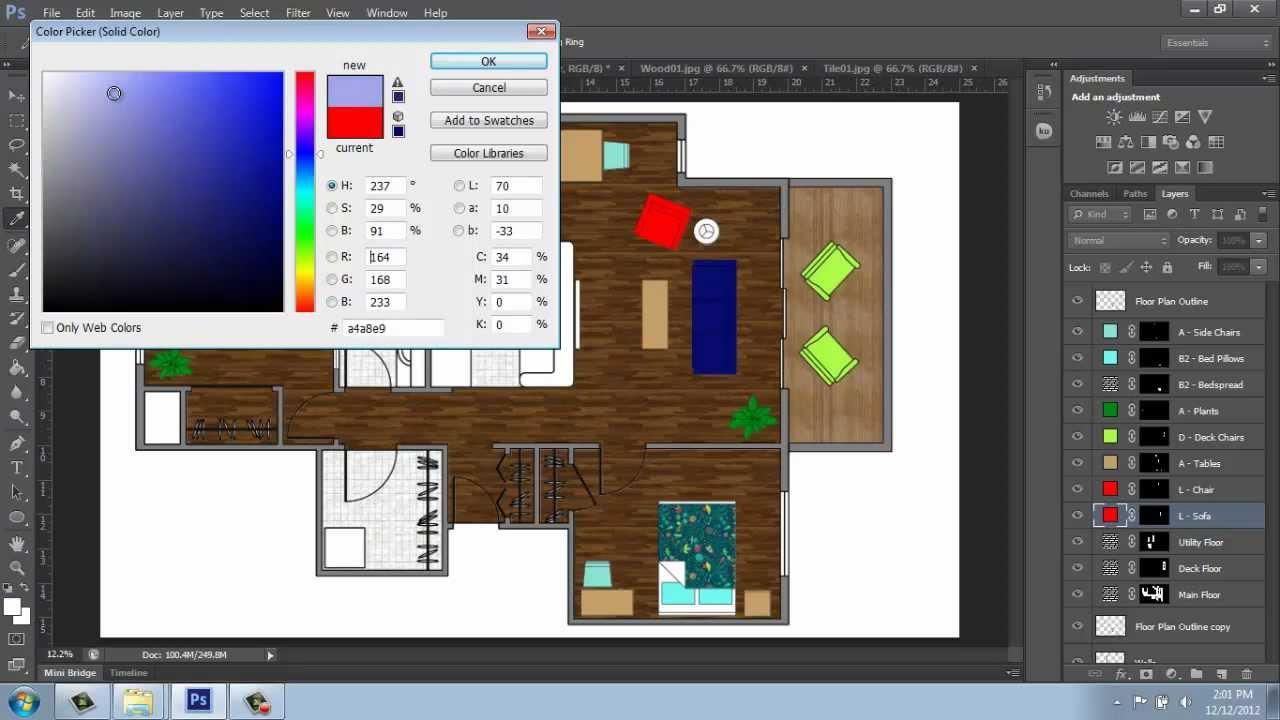 Adobe Photoshop Cs6 Rendering A Floor Plan Part 4