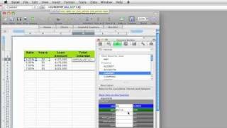 Excel 2008 for Mac tutorial