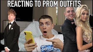 REACTING TO INSTAGRAM PROM OUTFITS